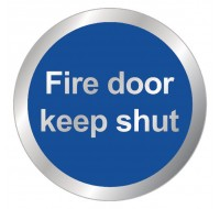 Fire Door Keep Shut 76mm Safety Sign RDS15 - Fire Exit Signs
