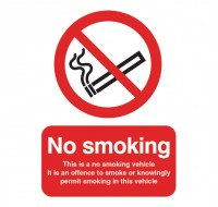 This Is A No Smoking 100 x 75mm Self-Adhesive Safety Sign PH05104S - No Smoking Signs