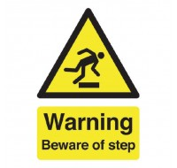 Warning Beware Of Step A5 Self-Adhesive Safety Sign HA21451S - Yellow Warning Signs