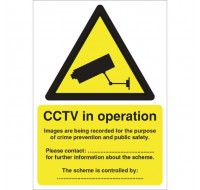 CCTV Data Protection Act-Complaint A5 PVC Warning Sign DPACCTVR - CCTV Surveillance Signs
