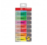 Stabilo Boss Wallet Of Assorted Highlighters 70/8 - Highlighter Pens