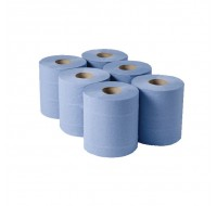 Centrefeed Single Ply Blue Hand Towel Rolls 200mm x 300m [PACK 6] - Centrefeed Rolls
