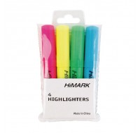 Highlo Assorted Highlighters PACK OF 4 WX01116 - Highlighter Pens