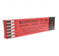 Contract Eraser-Tipped Pencil WX25011 - Rubber Tipped Pencils