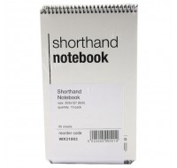 Spiral Shorthand 80 Leaf Notebook WX31003