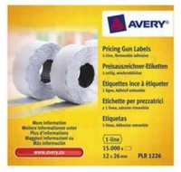Avery 1-Line Label Permanent White Roll Of 1500 WP1226 - Price Gun Labels