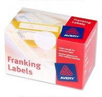 Avery Franking Label Double All Machines White 2 Per Sheet FL01
