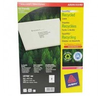 Avery Recycled Laser Label White Address 99.1X67.7Mm 8 Per Sheet Lr7165-100