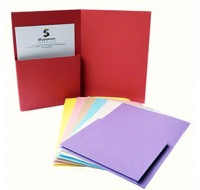 Bespoke Red Single Upright Wallets Foolscap 315gsm