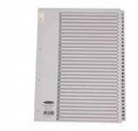 Concord Classic 1-31 White Board A4 Index With Clear Mylar Tabs 03101/CS31 - Numbered Index