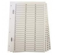 Concord Classic 1-75 White Board A4 Index With Clear Mylar Tabs 05601/CS56 - Numbered Index