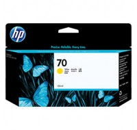 Hewlett Packard NO70 Yellow Inkjet Cartridge 130ml C9454A