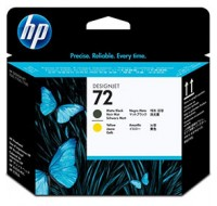 Hewlett Packard NO72 Matte Black/Yellow Print Head C9384A