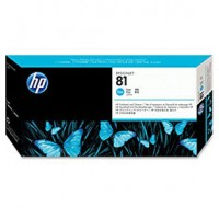 Hewlett Packard NO81 Cyan Dye Print Head And Cleaner C4951A