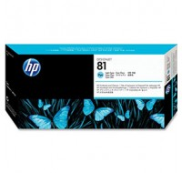 Hewlett Packard NO81 Light Cyan Dye Print Head And Cleaner C4954A