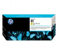 Hewlett Packard NO81 Yellow Dye Print Head And Cleaner C4953A