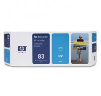 Hewlett Packard NO83 Cyan UV Inkjet Cartridge C4941A