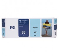 Hewlett Packard NO83 Light Cyan UV Inkjet Cartridge C4944A