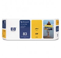 Hewlett Packard NO83 Yellow UV Inkjet Cartridge C4943A