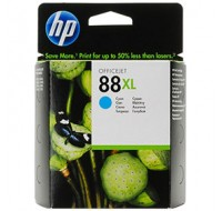 Hewlett Packard NO88XL High Yield Cyan Inkjet Cartridge C9391AE