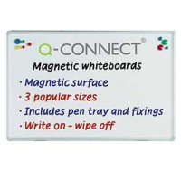 Q-Connect Magnetic Dry Wipe Board 1800 x 1200mm KF01081