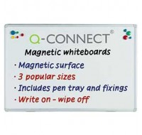 Q-Connect Magnetic Dry Wipe Board 900 x 600mm KF01079