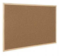 Q-Connect Wooden Frame Cork Board 600 x 900mm KF03567