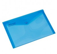 Rexel Translucent Blue A4 Carry Folders 16129BU - Press Stud Document Wallets