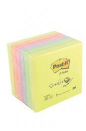 3M Pack Of 6 Neon Z-Note Post-It Refills 76X76mm R330NR