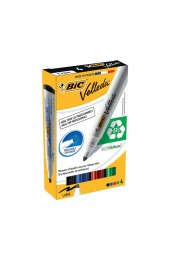 BIC Velleda Wallet Of Assorted Bullet Tip Whiteboard Markers 017040 - Dry Wipe Markers