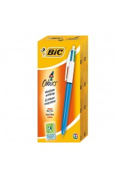 Bic 4-Colour Retractable Ballpoint Pen 802077 - Biro