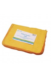 Yellow Dusters 100 per Cent Cotton 500 x 350mm - Cleaning Cloths
