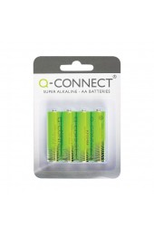 Q-Connect Battery AA Pack Of 4 KF00489 - AA Batteries