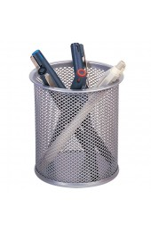 Q-Connect Silver Mesh Pen Pot KF00846 - Pencil & Pen Holder