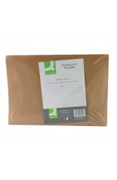 Q-Connect Buff Foolscap Kraftliner Square Cut Folders 170gsm KF23025