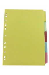 Q-Connect 5-Part Multicolour A4 Dividers KF26081 - File Dividers