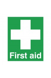First Aid 100 x 250mm PVC Safety Sign FA00607R