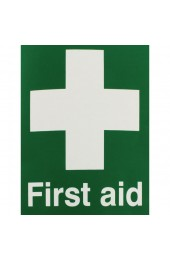 First Aid 150 x 110mm Self-Adhesive Safety Sign EO4X/S - First Aid Signs