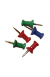 Clipper Assorted Pack Of 20 Push Pins