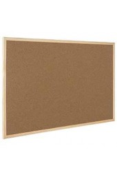 Q-Connect Wooden Frame Cork Board 400 x 600mm KF03566