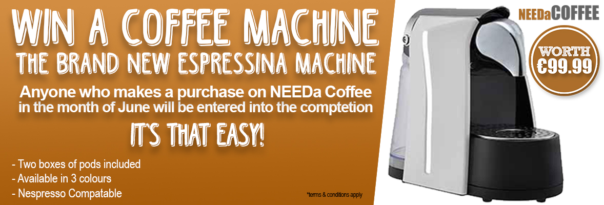 WIN A COFFEE MACHINE FOR YOUR OFFICE